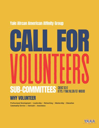 Call For Sub-Committee Volunteers Flyer